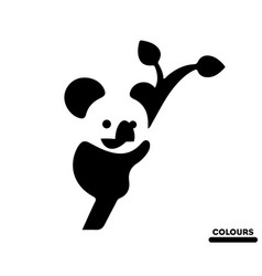 panda plays vector image