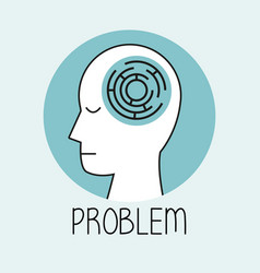 Profile human head problem vector