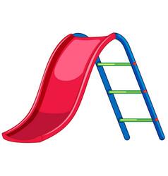 Red slide playground equipment vector