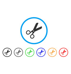 scissors rounded icon vector image