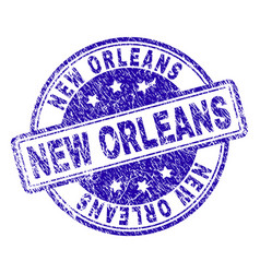 Scratched textured new orleans stamp seal vector