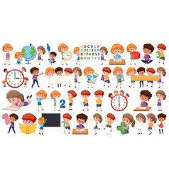 set math kids vector image