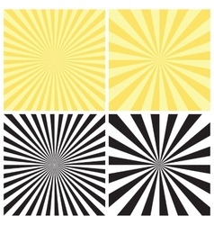 Set of radial sunburst backgrounds vector