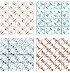 Set of vintage calligraphic abstract pattern set vector image