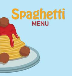 spaghetti menu spaghetti background image vector image