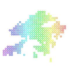 Spectrum cirle dot hong kong map vector