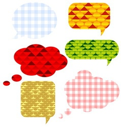Speech bubbls set vector image vector image