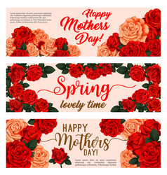 spring holiday flower banner mother day design vector image