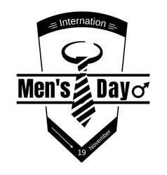 Suit tie men day icon simple style vector