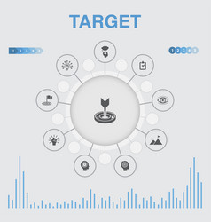 Target infographic with icons contains such icons vector