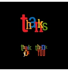 Thank you set vector image