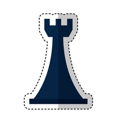 tower chess piece isolated icon vector image