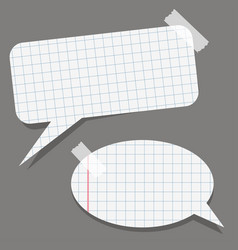 two paper bubble stickers with the tape vector image