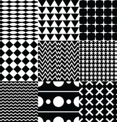 Various seamless pattern set vector