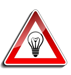 A warning sign ideas vector