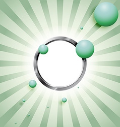 Balls and the metal ring vector image