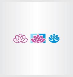 lotus icon design elements vector image vector image