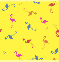 pink red blue flamingo seamless pattern vector image vector image