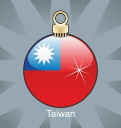 Taiwan flag on bulb vector image vector image