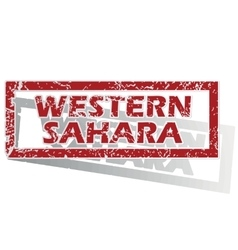 Western Sahara outlined stamp vector image