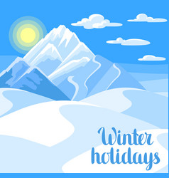 winter holidays beautiful landscape vector image vector image