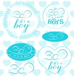 Baby Boy Badge Set vector image