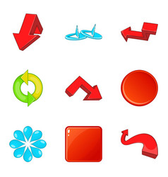 boom icons set cartoon style vector image vector image