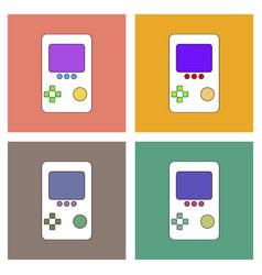 Flat icon design collection tetris portable game vector