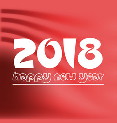 happy new year 2018 on red abstract color vector image