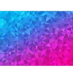 Polygonal Background for webdesign - Blue and pink vector image vector image