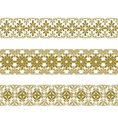 seamless pattern border vector image vector image