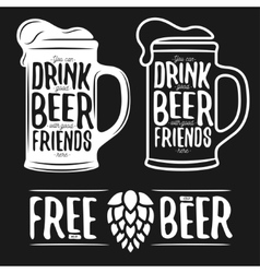 Set of beer typography vintage prints Quotes vector image