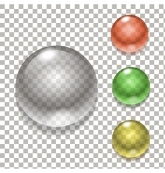 Set of colorful balls Glass sphere vector image
