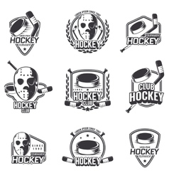 Set of sports logos for hockey vector image