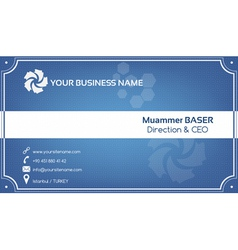Creative blue business card vector image