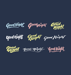 Good night vintage hand lettering typography vector