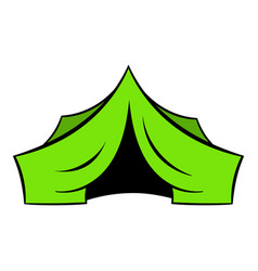 hunting tent icon icon cartoon vector image