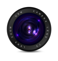 Lens on a white background vector image vector image