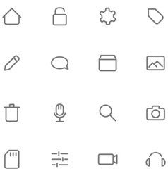Set icons multimedia vector image vector image
