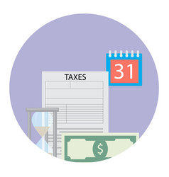 time for tax pay vector image vector image