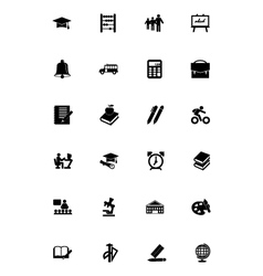 Education Icons 1 vector image