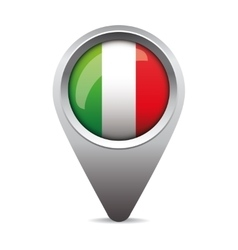 Italy pointer flag vector image