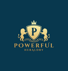 powerful heraldry abstract sign symbol or vector image