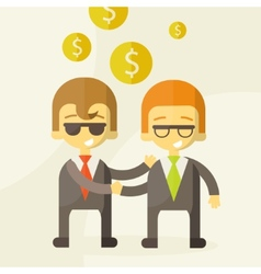 two man talking about business business vector image vector image