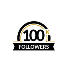 100000 followers and friends 100k anniversary vector