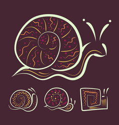 a set of different abstract snails for your vector image