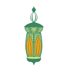 arabic lamp colorful i vector image