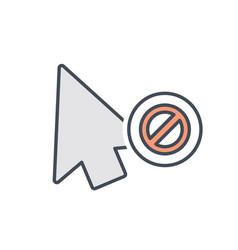 arrow click cursor disable mouse pointer icon vector image