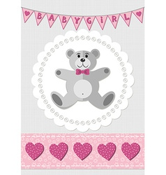 Babies nursery design vector image