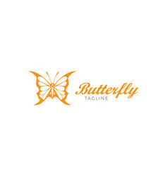 Beautiful luxury and elegance butterfly logo vector